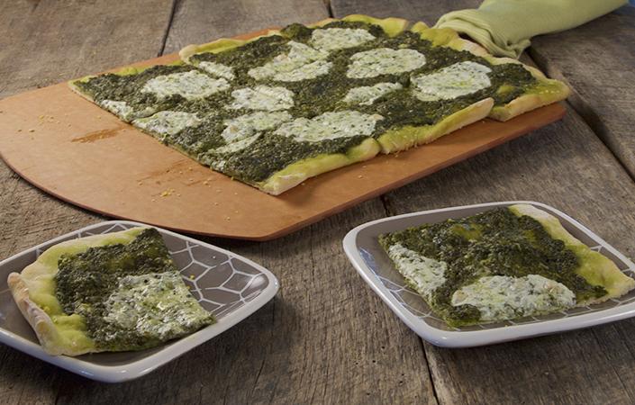 Spinach Pesto Flatbread