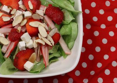 Strawberry and Pickled Radish Salad