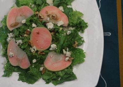 Apple, Walnut, & Blue Cheese Salad
