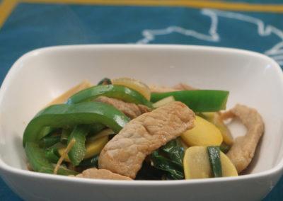 Ginger Scallion Stir-fry with Pork