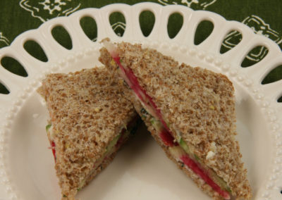 Watermelon Radish Tea Sandwiches