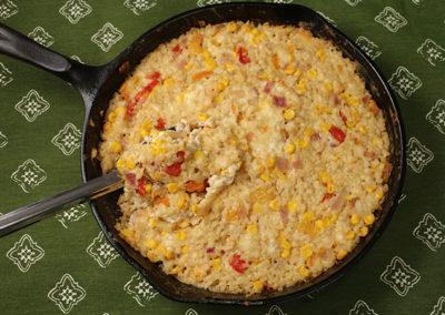 Rice, Corn, & Roasted Pepper Casserole