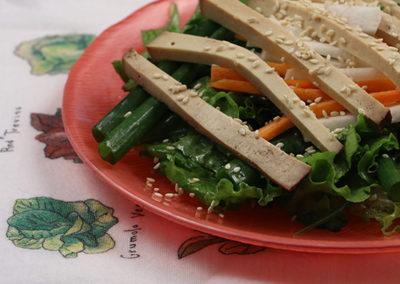 Scallion Salad with Sesame Dressing