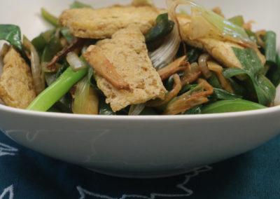 Ginger Scallion Stir-fry with Tofu