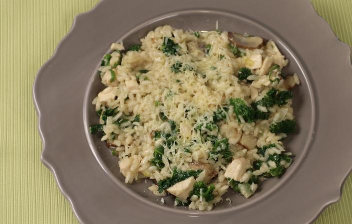 Turkey, Mushroom, & Kale Risotto